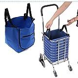 Farway supermercato trolley spesa organizzatore Tote Eco alimentari estendere carrello clip pieghevole borsa riutilizzabile per cestini