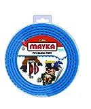 Mayka 34650 - Klebeband für Lego Bausteine, 2 m selbstklebendes Band mit 4 Noppen, blaues Bausteinband, flexibles Noppenband zum Bauen mit Legosteinen für Kinder ab 3 Jahre, wiederverwendbar