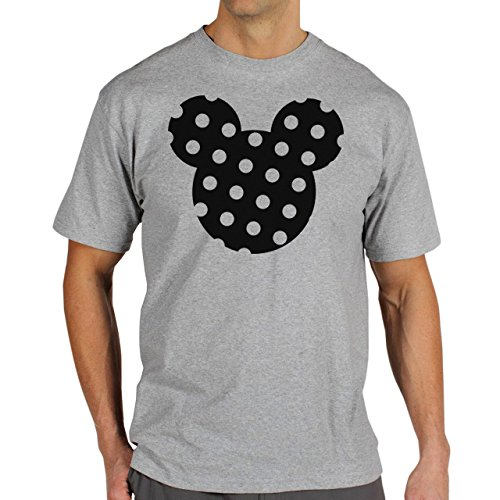 Mickey Mouse Disney Dope Icon Swag Colour Black And White Dotted Herren T-Shirt Grau
