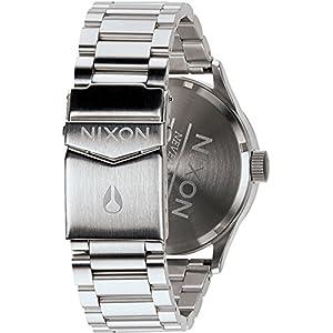 Nixon Sentry SS Silver - Reloj de cuarzo para hombre, correa de acero inoxidable color plateado de Nixon