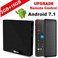 TV BOX Android 7.1 - VIDEN W2 Smart TV Box Amlogic S905W Quad Core, 2GB RAM & 16GB ROM, 4K*2K UHD H.265, HDMI, USB*2, 2.4GHz WiFi, Web TV Box, Android Set-top Box, + 2 en 1 Ratón y Teclado
