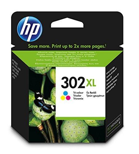 HP F6U67AE 302XL High Yield Original Ink Cartridge, Tri-color, Pack of 1