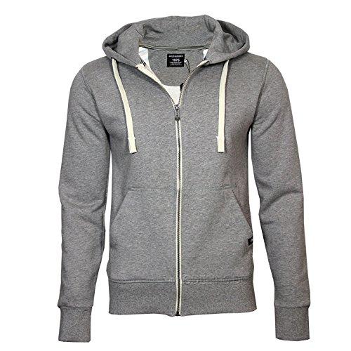 Jack & Jones SWEAT Zip Hood COLOR Grau (Light Grey Melange)