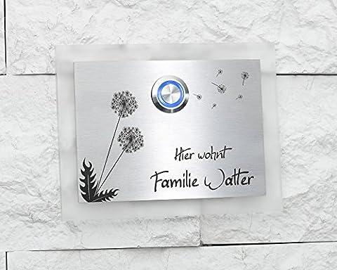 'Designer Ardoise naturelle Plaque de sonnette sonnette