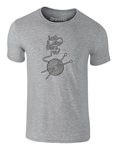 Brand88 - Just One More Row, Erwachsene Gedrucktes T-Shirt Grau/Schwarz