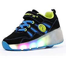 LILY999 Zapatillas con ruedas automáticas para niños. Con luces LED