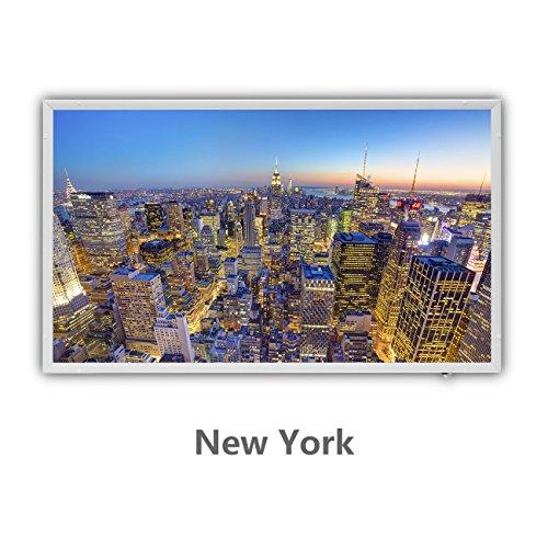 Protron Motiv Infrarotheizung Infrarot Panel Heizkörper Bild Elektroheizung Wandheizung 600Watt 600W 102x63cm (120311 New York) -