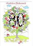 Außergewöhnliche Glückwunschkarte zum 80. Geburtstag. Stilvolles Design und ausgefeilte Lasertechnik schaffen auf kleinstem Raum ein filigranes Kunstwerk, dass dem jeweiligen Anlass eine angemessene und langwährende Bedeutung verleiht. Designed und produziert von Ge Feng im walisischen Ross-on-Wye. FL180
