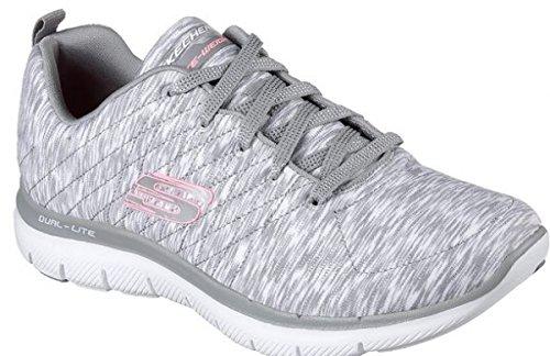 lex Appeal 2.0-Reflection Damen Sneaker grau/weiß/rosa, Größe:38, Farbe:Grau ()