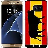 Coque pour Samsung Galaxy S7 Edge - Un Drapeau Espagnol Avec Taureau by zorg