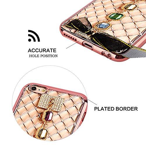 Coque pour IPhone SE Miroir Etui,MingKun Aluminium Miroir Métallique Dur Housse pour IPhone SE/5S/5 Anti-rayures et Shock-absorption Cadre Metal Bumper Case Cover pour IPhone SE/5S/5 Bling Effet Métal bracelet diamant-Rose Or