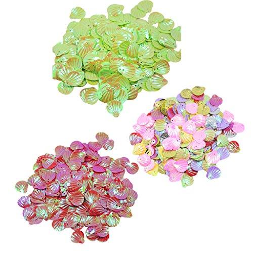 MagiDeal Boutons En Forne Coquillage Séquin Perles Pour Couture Bijoux Fabrication 3 Couleurs