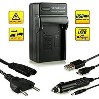 ¡Novedad! – El primero cargador de batería con conexión micro USB · adecuado para la batería NP-FM500H para Sony Alpha 57 SLT-A57 | 58 SLT-A58 | 65 SLT-A65 | 77 SLT-A77 | 99 SLT-A99 | DSLR-A200 | DSLR-A300 | DSLR-A350 | DSLR-A450 | DSLR-A500 | DSLR-A550 | DSLR-A560 | DSLR-A580 | DSLR-A700 | DSLR-A850 | DSLR-A900 y mucho más…