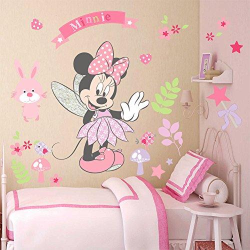 Kibi Pegatinas Infantiles Pared Minnie Pegatinas Decorativas Pared mickey Mouse Stickers Pared Mickey...