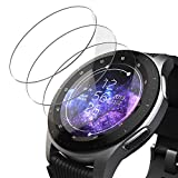 UTECTION 3X Panzerglas für Samsung Galaxy Watch 46mm / Gear S3 Frontier / S3 Classic - Display Schutzglas Anti Kratzer Folie - Schutzfolie, Displayschutzfolie aus Glas Passgenaue Panzerglasfolie