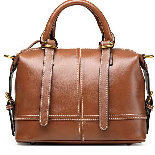Kieuyhqk Frauen Brown Commuter Tote Bag Mode Schulter Crossbody Tasche Vintage Joker Handtasche Frauen Casual Handtasche Schulter-Handtasche (Farbe : Braun, Größe : L)