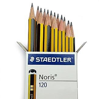 Staedtler Noris 120 PREMIUM Oficina Lápices – Grado B [ Caja de 12]
