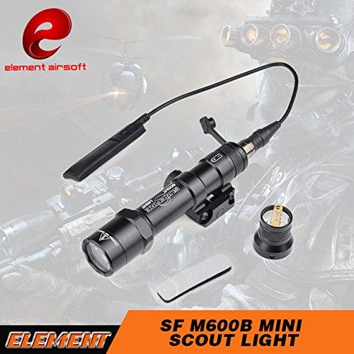 LED Elemento SF M600B Mini Light Scout riflettore tenuto in mano per la caccia con la pressione a distanza EX410(Nero) ,luci tattici,torcia tattica,luci di armi,Torcia elettrica di caccia,torcia elettrica