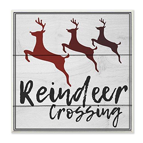 Stupell Industries Rentier Crossing Schild, Kunst, Mehrfarbig, 12x 0,5x 12Zoll