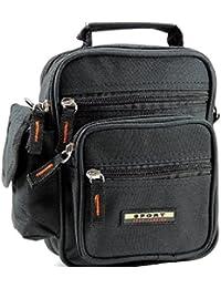 Borsello tracolla uomo 3 tasche modello ECONOMICO borsa uomo a tracolla  multitasche colore NERO ad6e06ef6b2