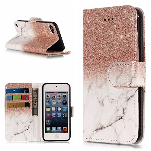 3D Floral Animal Cartoon Series- Design PU Leather Flip Wallet Stand Function Flip Kickstand Magnetic Book Wallet with Card Slot Holder Protective Cover for Apple iPod Touch 6 6th / iPod Touch 5 5th Generation