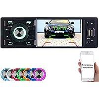 Creasono Autoradio 1 DIN: MP3-Autoradio mit TFT-Farbdisplay, Bluetooth, Freisprecher, 4X 45 Watt (Autoradios 1 DIN, Bluetooth)