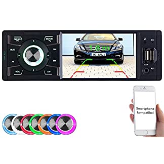 Creasono-Autoradios-MP3-Autoradio-mit-TFT-Farbdisplay-Bluetooth-Freisprecher-4X-45-Watt-1-DIN-Radio