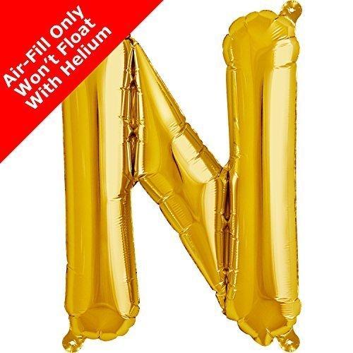 40.6cm Doré Lettres N Ballon Plat