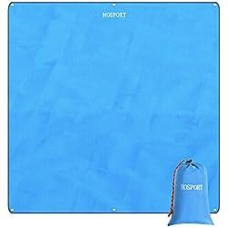Coperta da Spiaggia Coperta da Picnic Impermeabile HOTSPOT Oxford - 84,6 '' x 84,6 '' per 4 Persone Coperta a Prova di Sabbia Portatile per Pic-nic, Spiaggia, Escursionismo, Campeggio e Parcheggio ecc. (Blu)