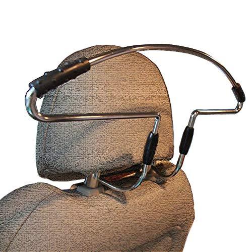 Ejut Auto Kleiderbügel Metall Autokleiderbügel für Kopfstütze Kopfstützen-Kleiderbügel Edelstahl KFZ Kleiderbügel für Klamotten Kleidung Anzüge Jacke Shirts Kleiderbügel Car Headrest Hanger
