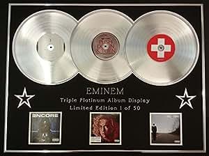 EMINEM/TRIPLE AFFICHAGE PLATINUM ALBUM/LTD. EDITION/ENCORE + RELAPSE + RECOVERY/COA