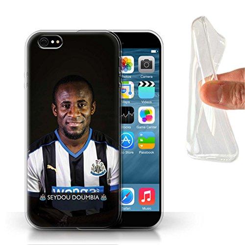 Offiziell Newcastle United FC Hülle / Gel TPU Case für Apple iPhone 6 / Rivière Muster / NUFC Fussballspieler 15/16 Kollektion Doumbia
