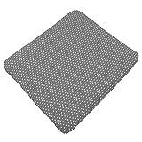 Sugarapple Wickelauflagenbezug Grau mit weißen Sternen aus 100% Baumwolle für Wickelauflagen 85 x 75 cm, Öko-Tex Standard 100, Hergestellt in Deutschland