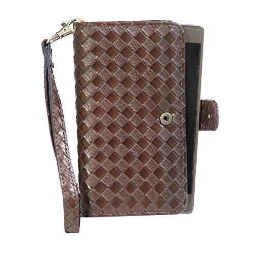 J Cover A9 L Elegant Series Leather Carry Case Cover Pouch Wallet Case For Karbonn Platinum P9 Dark Brown