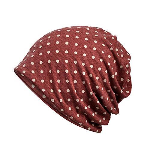 BHYDRY Damen Wrap Indien Muslim Stretch Turban Hut Tupfen drucken Kopftuch