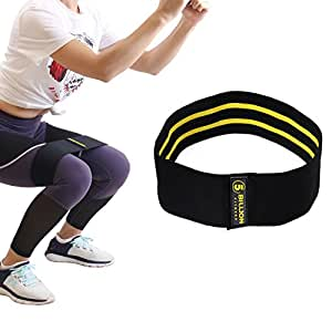 5BILLION Resistance Hip Bands - Premium Exercise Bands For Booty, Thigh & Glutes - Soft & Non-slip Design Loop Set(Large)