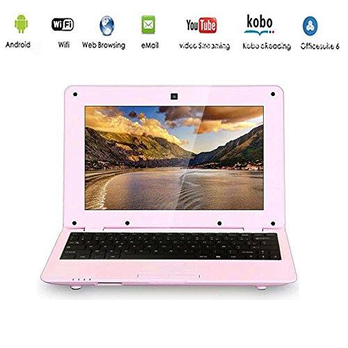 "G-Anica Ordenador portátil de 10.1""(WIFI, 1.5GHz 512 MB de RAM, 4 GB de disco duro) Android 4.4.2 Netbook color Rosa"