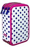 Milan Dots 3 Estuches, 20 cm, Azul/Blanco