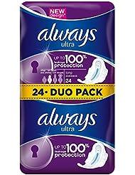 Always Serviettes Hygiéniques Ultra Long avec Ailettes Duo Pack x 24