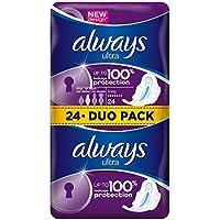 Always - Ultra Long Serviettes Hygiéniques avec Ailettes - 24x