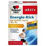 Doppelherz Energie-Kick mit Koffein + Taurin + B12 + B2 / Koffein zur Steigerung von Wachheit und Konzentration / 1 x 30 Tabletten