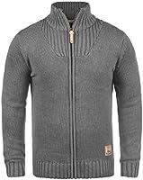 SOLID Poul Herren Strickjacke Cardigan mit Stehkragen aus hochwertiger Baumwollmischung