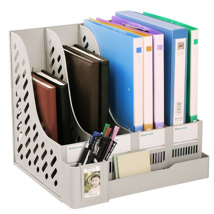 byd-white-sturdy-four-sections-magazine-holder-file-rack-storage-dividers-cabinet-document-tray-hold