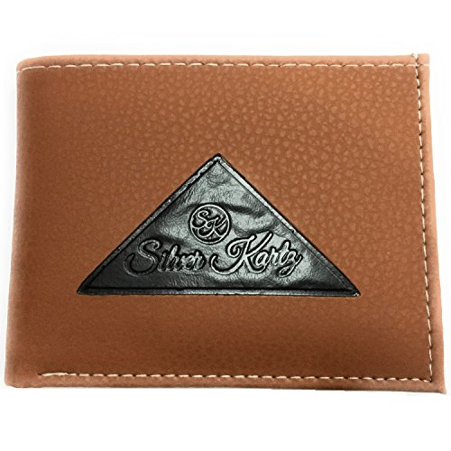 Silver Kartz Men's Tan Tri-Log Smoothe Genuine Leather Wallet (taj-008)  available at amazon for Rs.99