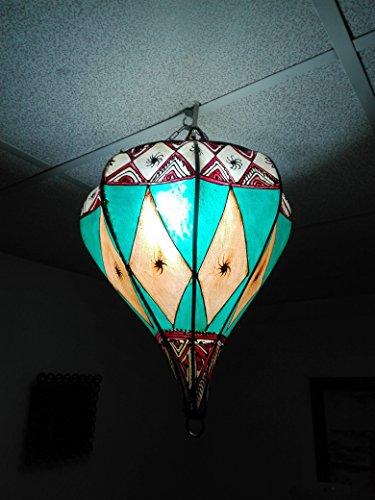 Lámpara marroquí lámpara farol Piel Hierro Henne Oriental Hippie é