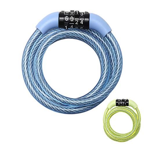 MASTER LOCK Candado Bicicleta [1,2 m Cable] [Combinación] [Exterior] [Color al Azar] 8143EURDPROCOL...