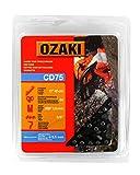 Ozaki - Cadena de motosierra, paso de la cadena de 3/8 de pulgada, 64 eslabones de arrastre, 0.058-chip (1,5
