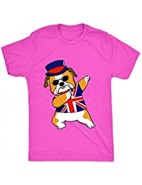8TN Dabbing British Bulldog Unisex-Children T Shirt