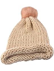✿♥ Femmes Mode Chapeaux,Ularmo® Bonnet Garder Chaud Hiver Laine Tricotée Chapeau à ourlet ♥ ✿