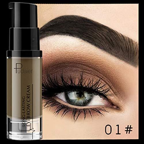 BigBig Style 4D Dame Wasserdichte Augenbraue-Farbstoff-Gel-Make-up-Schatten für Augenbraue-Wachs-langlebiger Farbton Schatten bilden Malen-Pomade-Kosmetik (Color : 01#)